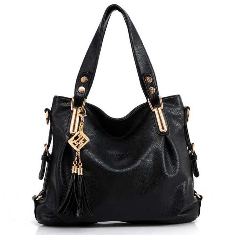 Bolsas Femininas Real Time-limited Zipper Bolsas 2014 Women's PU Leather Handbag All-match Shoulder Bag Messenger Big Bags(China (Mainland))