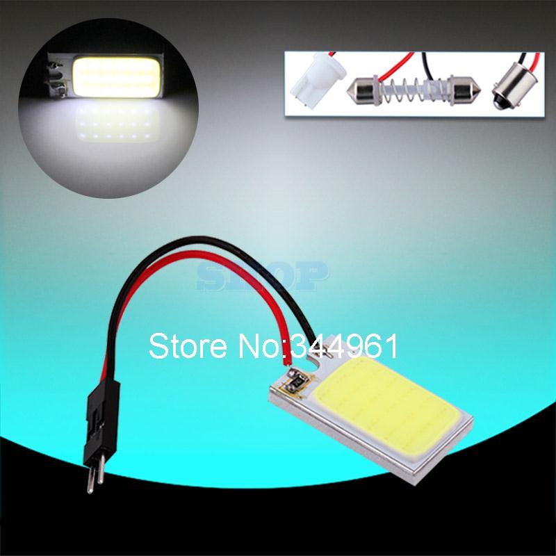3W COB 18 LED Car Panel T10 ba9s Festoon Dome Adapter w5w c5w led car bulbs interior Lights Source parking 12V Lamp(China (Mainland))