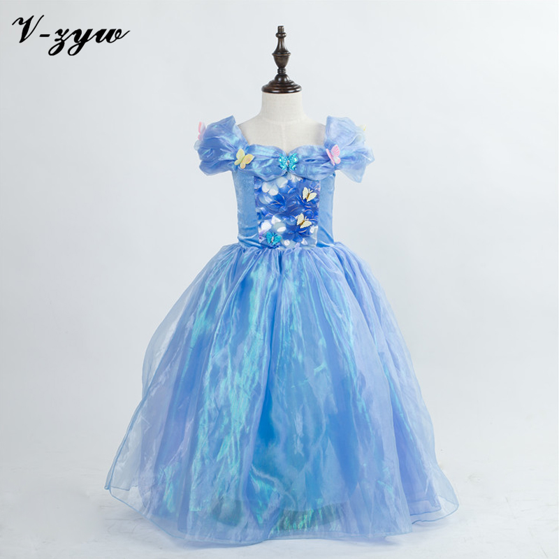 Childrens evening gowns girl cinderella dress formal dress baby princess dresses party dresses for teenagers cinderella costume(China (Mainland))