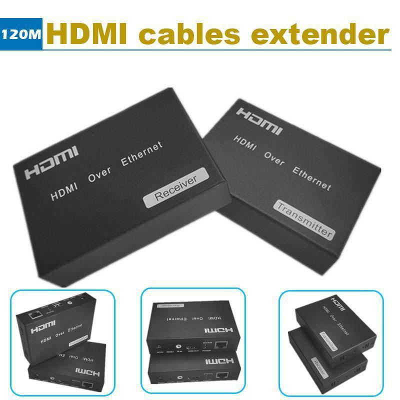 HDMI Extender 120m Over single wire CAT5e/6 HDMI Extender Connector TCP/IP standard IR remote control support HDTV 1080P HDCP(China (Mainland))