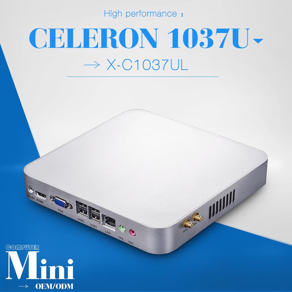 Big promotion!!!intel c1037u 8GB ram 64GB SSD micro industrial pc Mini Computer station fanless pc thin client support HD video(China (Mainland))