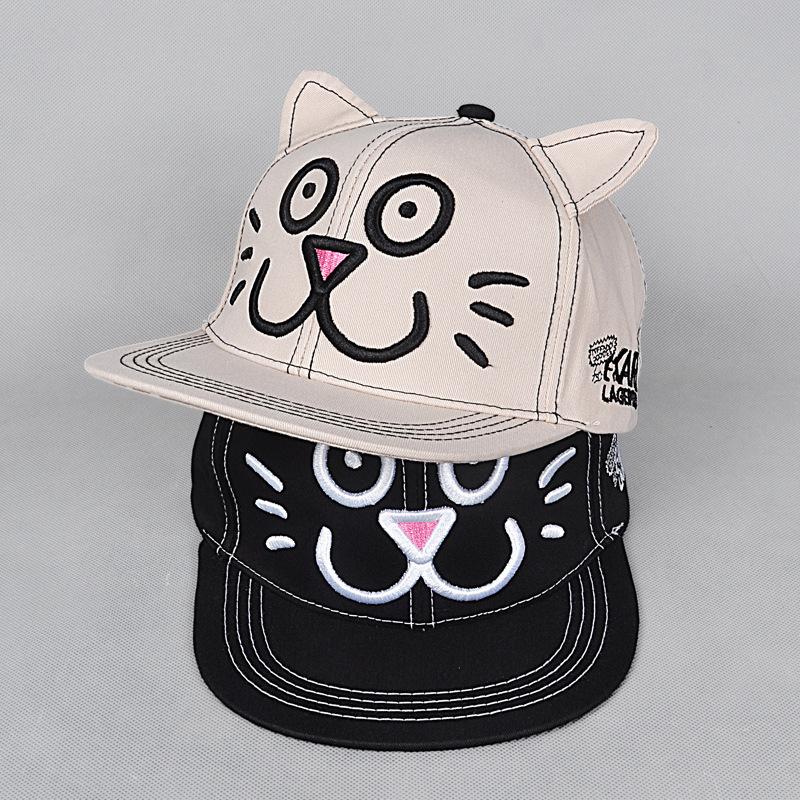 Precioso Bebé de la Historieta Del Snapback Sombrero de la Gorra de Béisbol Niños Embroma el Sombrero niño Tapa de Hip Hop Tapa Sombrero Para El Bebé 2-9 Años de Envío gratis(China (Mainland))