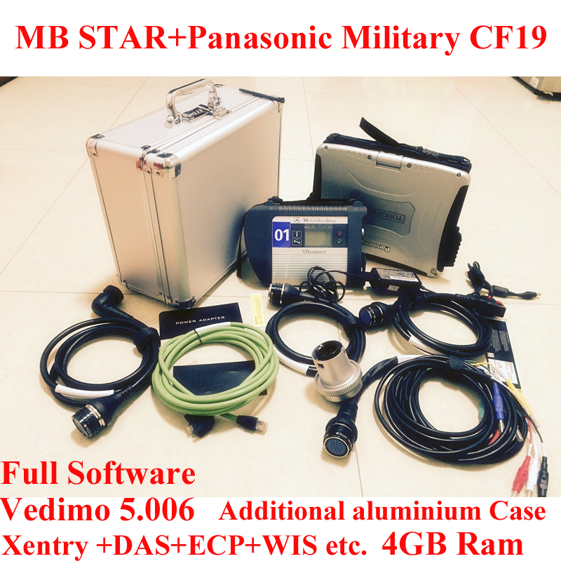 TOP Quality Mb star c4 2016-05 Vediamo +Panasonic Military Laptop CF19 MB Star SD Connect c4 Wifi Diagnostic Tool(China (Mainland))