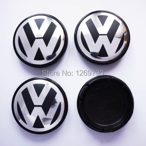 4pcs/lot 55mm VW Wheel Center Cap Emblem Badge wheel tyre accessory Fit for VW New Beetle, Bora MK4, PASSAT Golf MK4, Polo(China (Mainland))