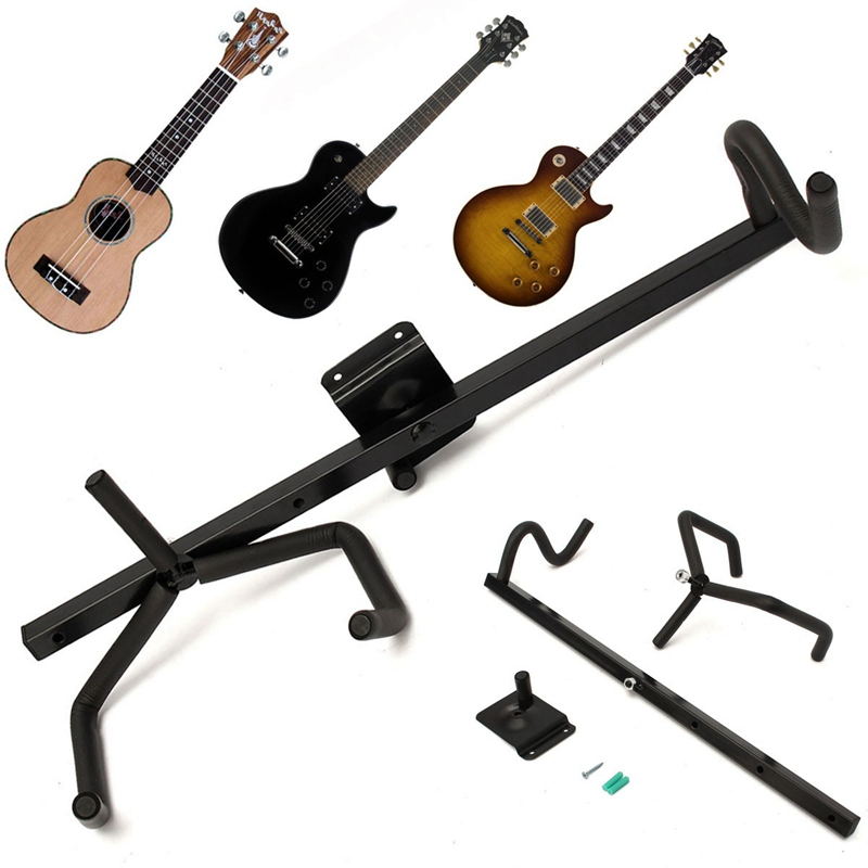 High Quality NEW Electric Guitar Wall Hanger Horizontal Acoustic Guitar Holder Bass Stand Rack Hook(China (Mainland))