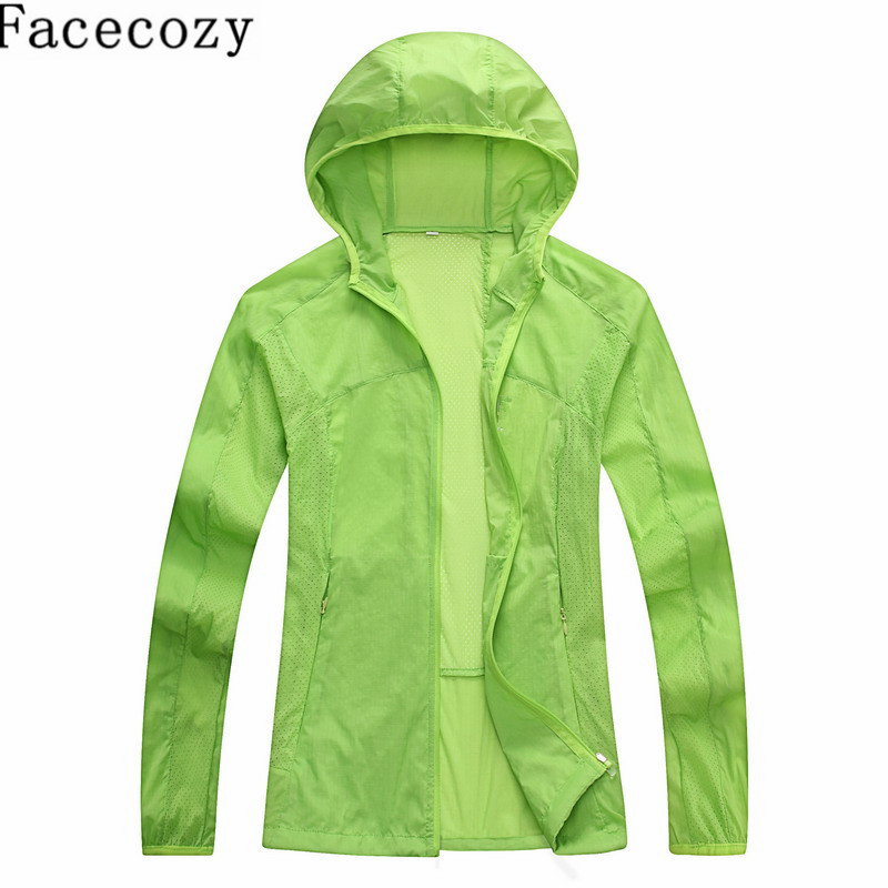 Facecozy Women Summer Outdoor Solid Colors Shirt UV Protection Trekking&Cycling Breathable Shirts Quick Drying Sports Clothing