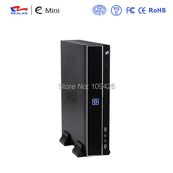 Компьютерный корпус E-mini REALAN /itx /microatx e/t01b , 1 * PCI , SGCC 0,6 E-T01B realan aluminum mini itx desktop pc case e i7 with power supply cd rom slots black silver