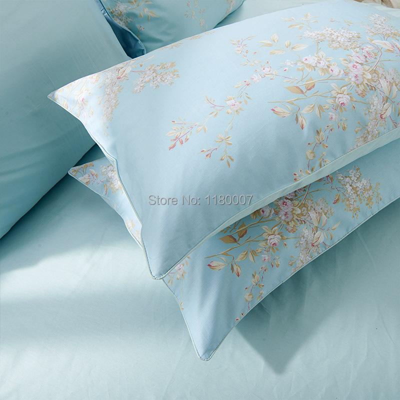 light sky blue shabby chic bedding floral egyptian long staple cotton duvet cover set king blue shabby chic bedding