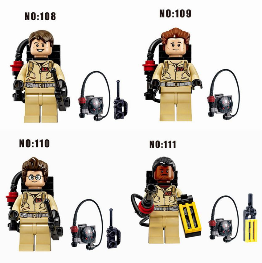4pcs/lot Ghostbusters Minifigures Custom Ray Peter Egon & Winston Compatible Legoe block sets Ghost Buster minifigureS Baby toys(China (Mainland))