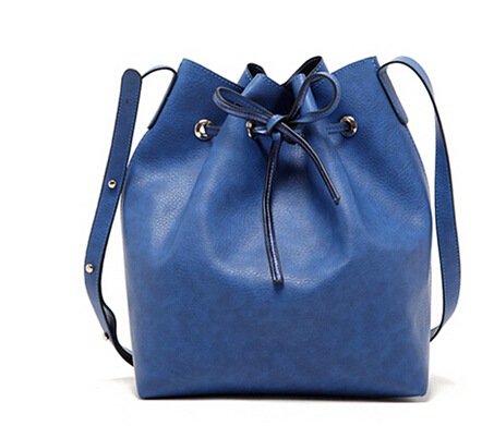 Fashion 2015 candy color fashion all-match bucket  one shoulder cross-body women's bags