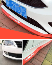Rubber Front Bumper Strip Car Crash Protector Flex Dura Edge Protection Side Skirts Spoiler Lip Anti-rub Styling Mouldings(China (Mainland))