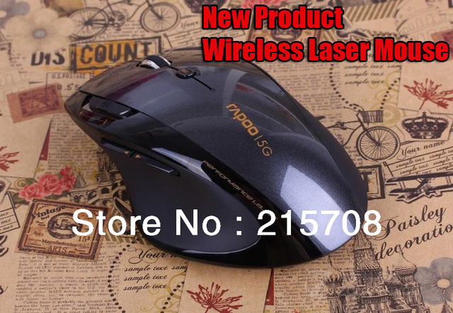 High quality,Brand Rapoo 8D Ergonomic Wireless Laser mouse/Adjustable DPI1600/5GHz/Anti-interference for PC,laptop Free Shipping