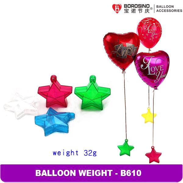 B610 Free Shipping 10 pcs/box 32 grams Mix Color Five Star balloon weight(China (Mainland))