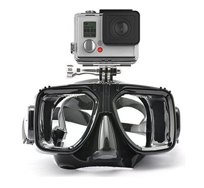 1piece silicone gopro scuba diving mask retail or wholesale tempered glass lens adult diving and snorkeling equipment(China (Mainland))