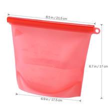 Reusable Seal Silicone Food Fresh Bag Vacuum Sealer Fruit Meat Milk Storage Bag(China)