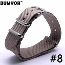 Buy Top Brand Luxury Men Women Watch Band Straps Brown 16 18 22 24mm bracelet Nato fabric Nylon Watchbands Strap Bands Buckle belt for $2.31 in AliExpress store