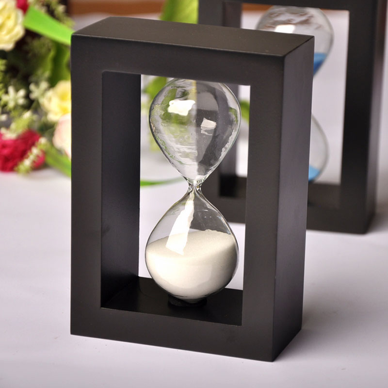 2016 Wooden Frame Hourglass Sandglass Sand Timer Birthday Gift Girlfriend Office Decor,4 Colors 10 Minute Sale - HAOYUN Home Decoration co., LTD store