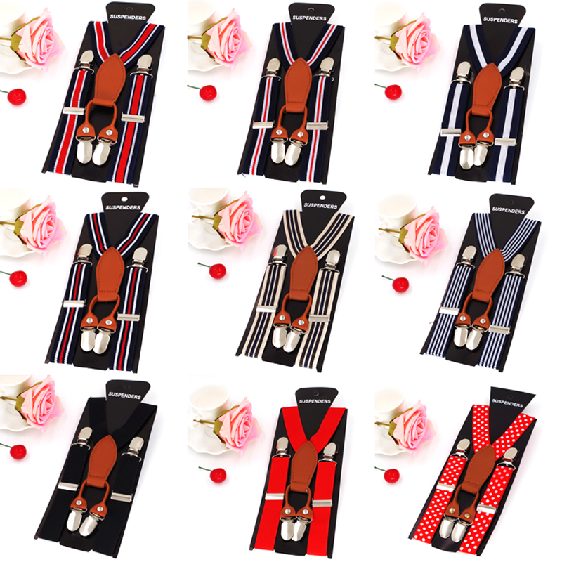 baby suspenders kids tirantes 4 clips braces Elastic bretelles belts student suspensorio 9pcs/lot free shipping