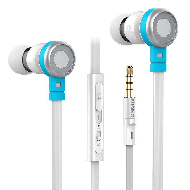 C1 Wire Control Earphone For Mobile Phone Factory Price Good Sound Stereo Headphone With Microphone Noddle Cable Earbud(China (Mainland))