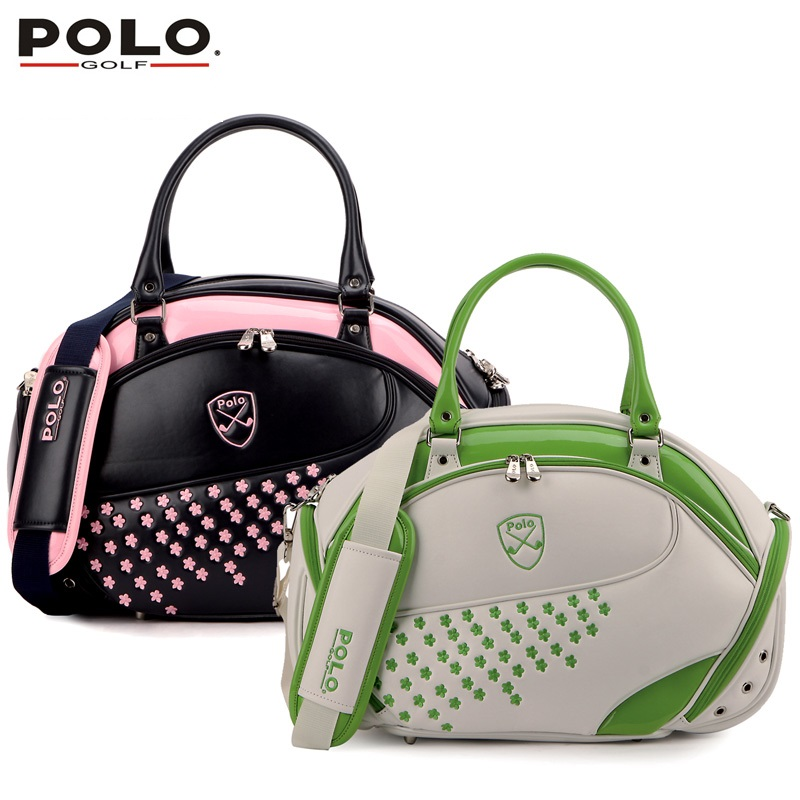 Brand Authentic POLO Golf Clothing Bag Women Import PU Embroidered Waterproof Bag Fashion Handbag 2016 High Quality Travel Bag(China (Mainland))