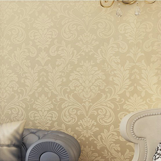 non woven wallpaper gold background wall wallpaper damask. Black Bedroom Furniture Sets. Home Design Ideas