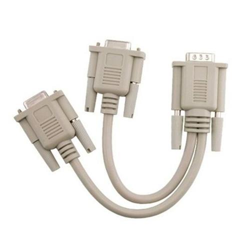 NEW,New VGA Male To 2 VGA Female Monitors Splitter Cable For VGA Video(China (Mainland))