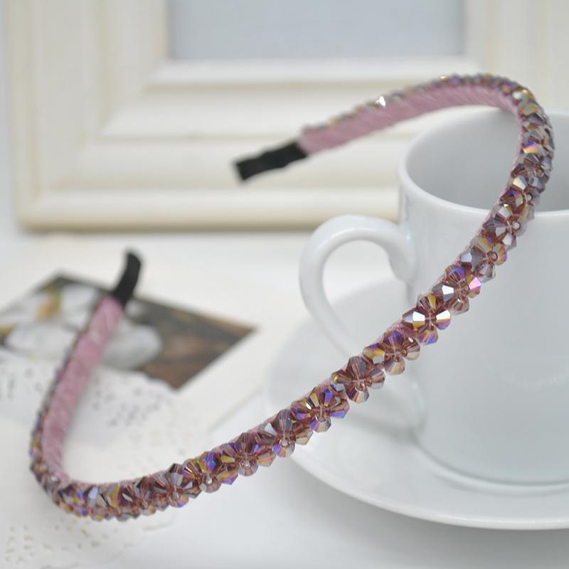 Korea Style Colorful Irregular Crystal Wire Hairband Headband Hoop Accessories X60*SS0267W#S10(China (Mainland))