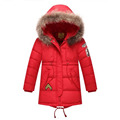 Hight Qualiety Winter Boys Down Jacket 2016 Fashion Fur Collar Long Thick Warm Down Parkas Boys