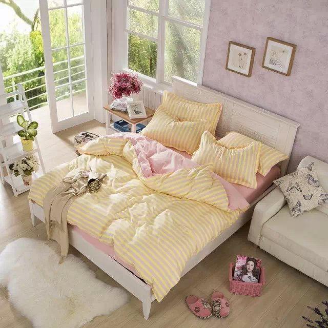 4 pz pieno twin set biancheria da letto comforter set - Biancheria da letto moderna ...