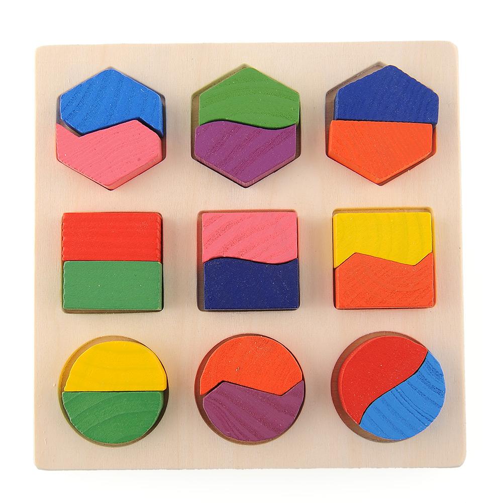 Гаджет  Wooden Math Geometry Puzzle Montessori Early Learning Intellective Educational Preschool Toy Child Kids Baby Game None Игрушки и Хобби