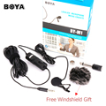 BOYA BY M1 Lavalier Stereo Audio Recorder Interview Speach Clip Microphone Mic For Nikon Canon Camcorder