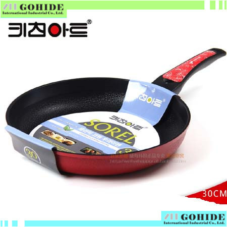 -Original Brand New Non-stick none smoker Ceramic woks 30cm pamphleteers diamond marble smokeless frying pan woks(China (Mainland))