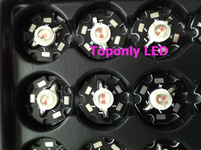 Epileds chips 5w red color light emitting diode bulb with 20mm heatsink 650-660nm led grow lighting 240pcs/lot DHL free shipping(China (Mainland))