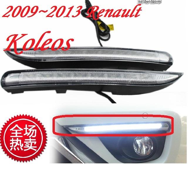 Free ship!2012~2014 renault Koleos LED daytime running light,2pcs/SET(1pcs Left+1pcs Right+wire of harness),6000~7000K