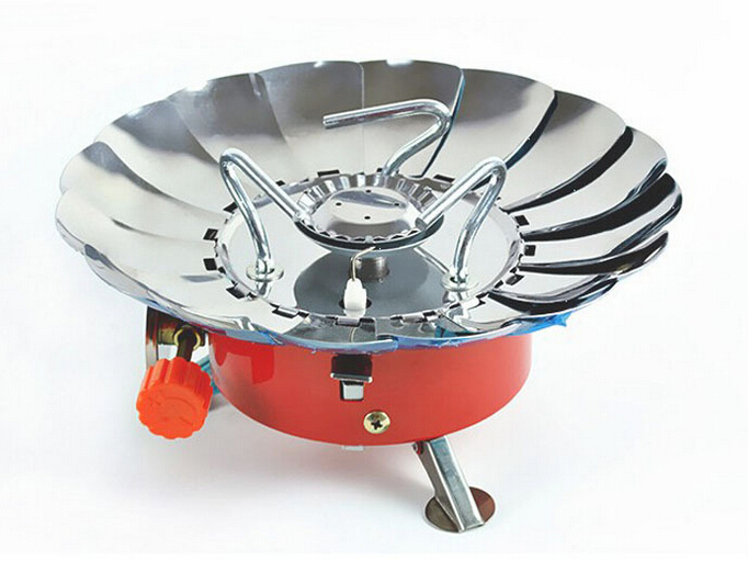 Outdoor Camping Lotus Gas BBQ Tools Stove/ Burners With Electronic Ignition Windproof Grills(China (Mainland))