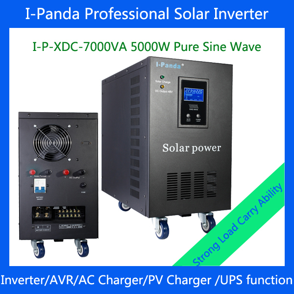 I-P-XD-7000VA 5000w Pure Sine Wave Solar Inverter with charger free energy generator Industrial Level low frequency inverter(China (Mainland))