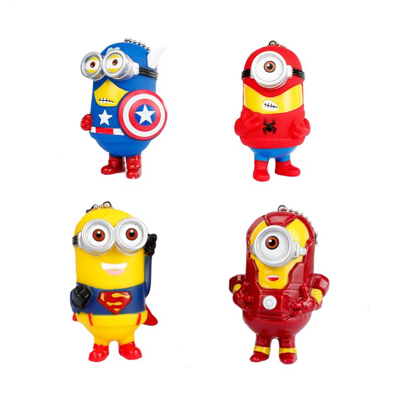 Minion Cos Super Hero Spiderman Superman Batman Captain America Ironman Thor Minions PVC Action Figure Toys(China (Mainland))