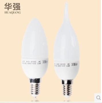 1pcs Retail Free ship HIGH POWER E14 3W 5W 2835 chip AC220V candle lamp chandelier led light lamp lighting spotlight(China (Mainland))