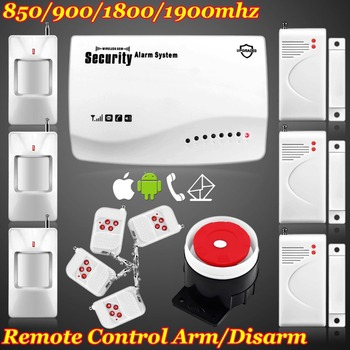 New IOS/Android APP Wireless/Wired GSM SMS Home Secure Burglar Voice Alarm System Remote Control Setting Arm/Disarm+Auto Dialing