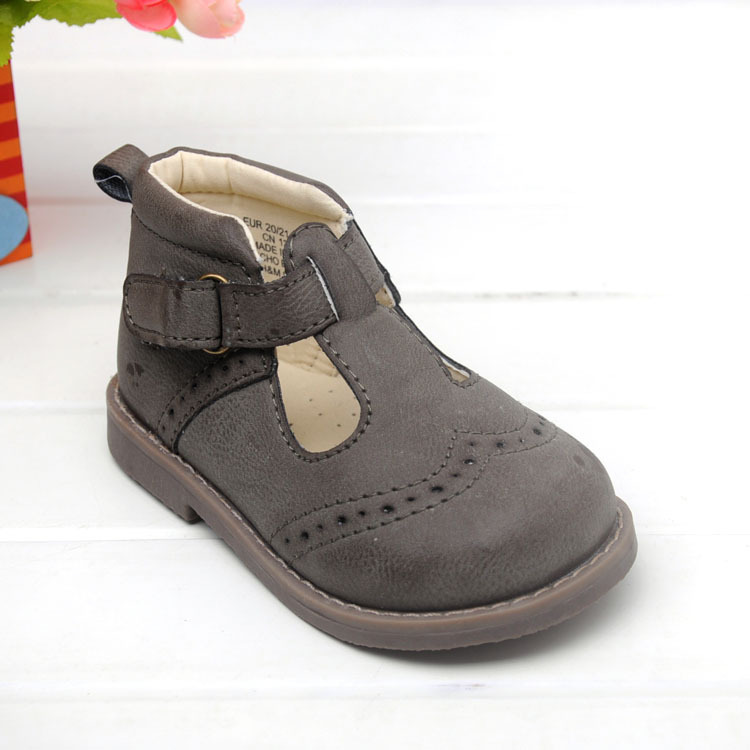2015 new autumn pu leather children shoes girls shoes t strap brown shoes kids fashion style casual shoes girls boots <br><br>Aliexpress
