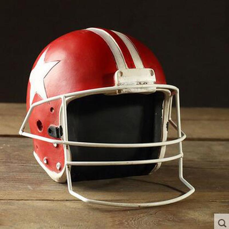 High Quality Retro Creative Resin Ornaments Football Helmet Decorations Model Far(China (Mainland))
