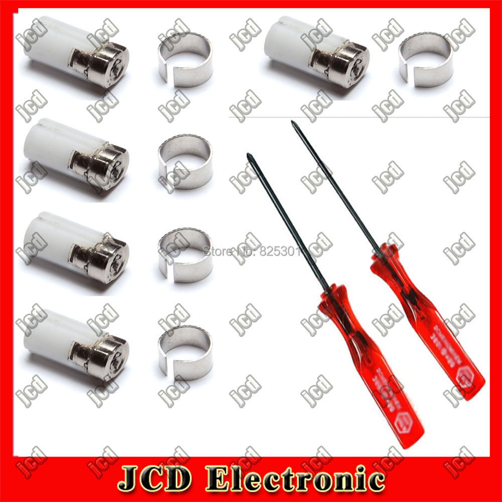 5* White Hinge Axle Repair Parts for Nintendo DS Lite + philips & Triwing Triangle Screw Driver For NDSL(China (Mainland))
