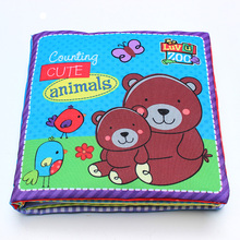 2015 animal fisher baby / children quiet book Christmas present livro infantil cloth books 0-3 years(China (Mainland))