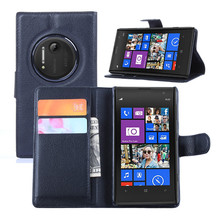 Luxury Litchi Leather Wallet Flip Case Cover For Nokia Lumia 1020 EOS 909 875 877 876 with Stand and Card Slots Free Shipping(China (Mainland))