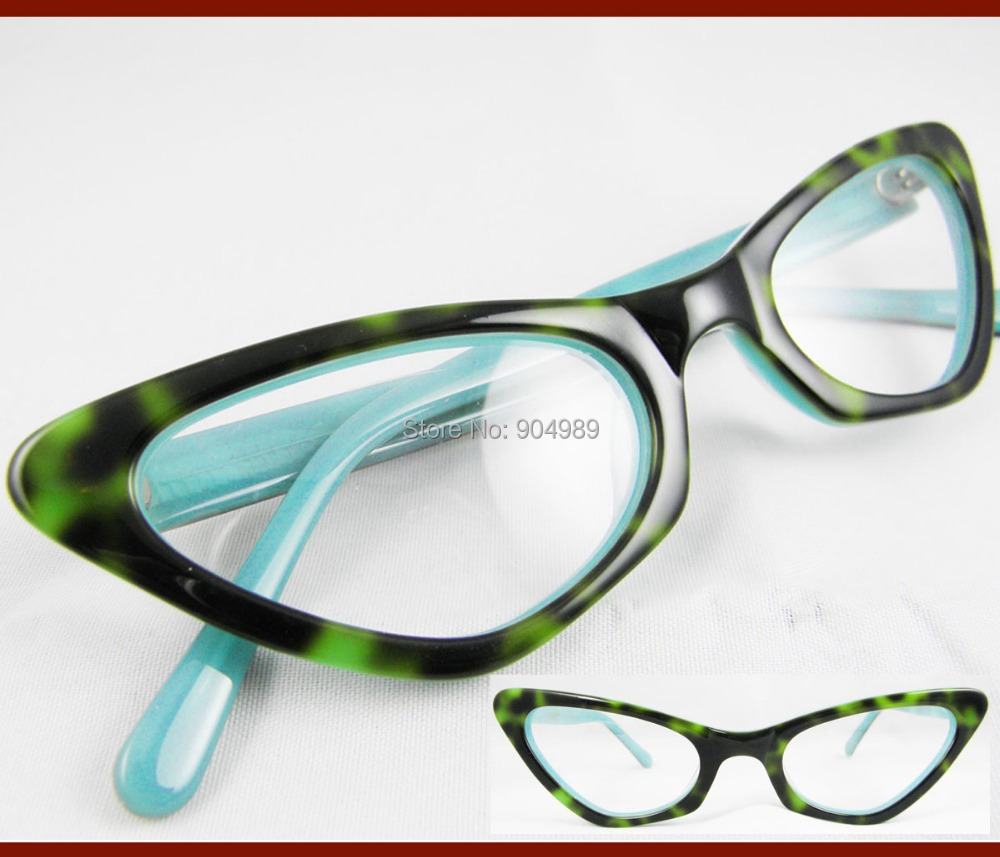 Green Frame Fashion Glasses : Women Fashion Lady design Cat eye optical prescription RX ...