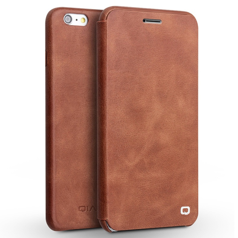 QIALINO High Quality Luxury Bag Slim Top-layer Genuine Leather Phone Case Cover Shell for iPhone 6s Plus / 6 Plus 5.5 inch