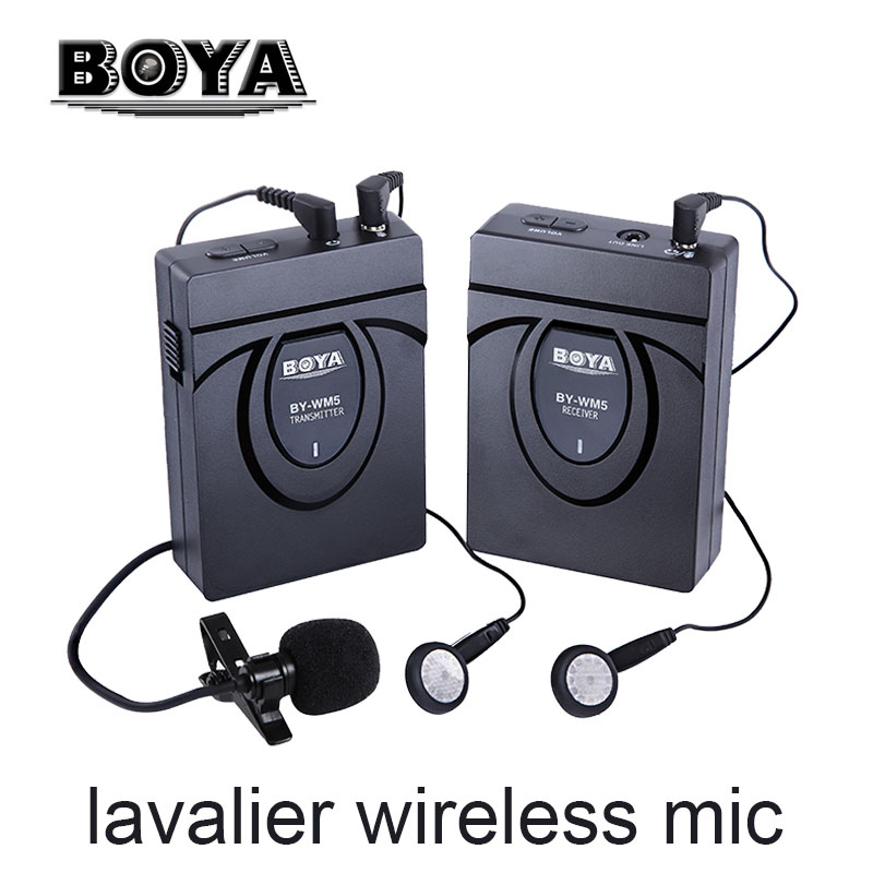 BOYA BY-WM5 / BY-WM6 Camera Wireless Lavalier Microphone Recorder System for Canon 6D 600D 5D2 5D3 Nikon D800 Sony DV Camcorder(China (Mainland))