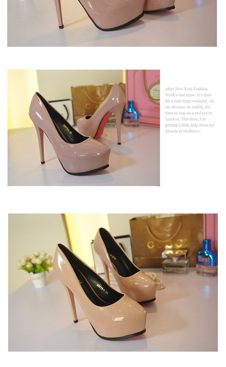2015 New Arrival Fashion Casual Platform Women Pumps Thin High-heeled Shoes Pointed Toe Sexy High Heels Female Shoes ZK2.5