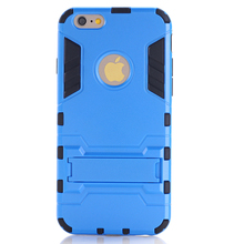 Dual Layer Shockproof Heavy Duty Hybrid Rugged Rubber +Plastic Case For iPhone 6 Plus 5.5″ Kickstand Phone Cover Skin OO1