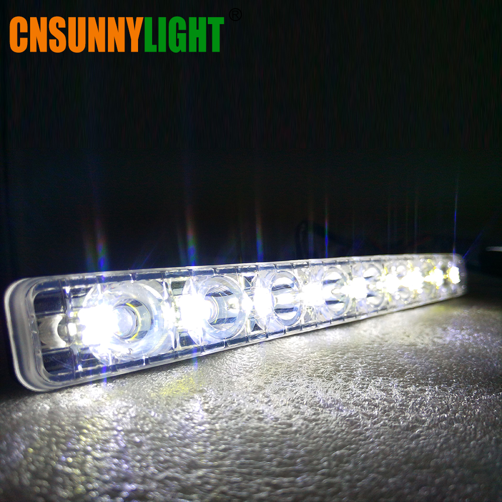 CNSUNNYLIGHT LED DRL Car Daytime Running Lights Daylight Styling Automotives Led Fog light 9 LEDs Super Bright 6000K Waterproof (6)